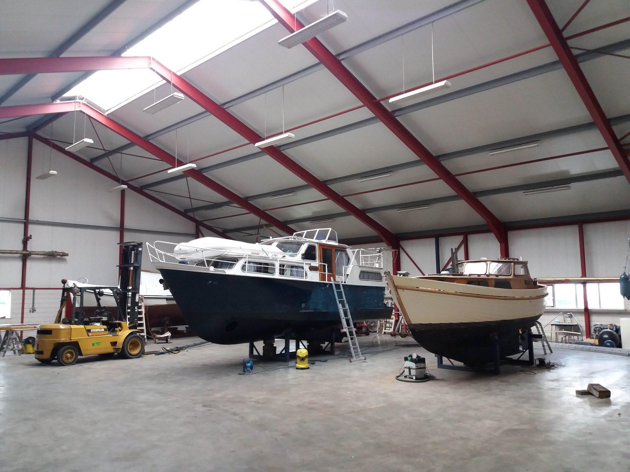 Binnenstalling winterstalling boten