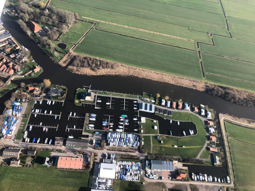 Luchtfoto Jachthaven Lemsterpoort Januari 2019.