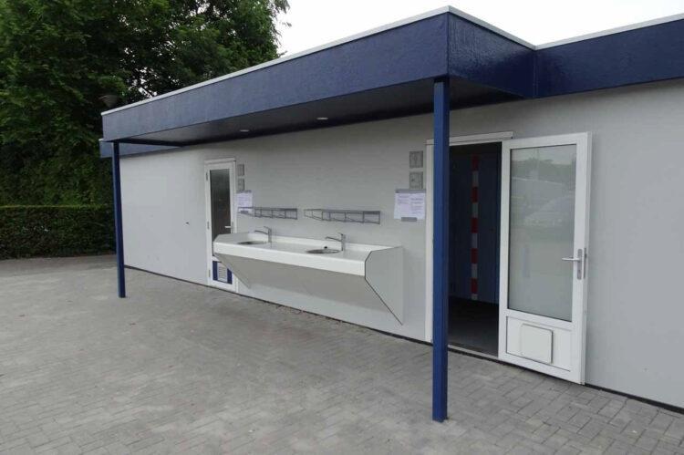 Het nieuwe toiletgebouw